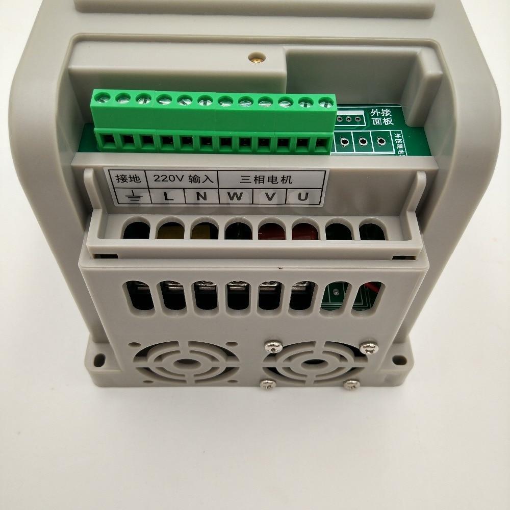 VFD 2.2KW nouvel onduleur CNC moteur de broche contrôle de vitesse 220V 1.5KW/2.2KW/4KW 220v 1P entrée 3P sortie inverseur de fréquence pour moteur - 3