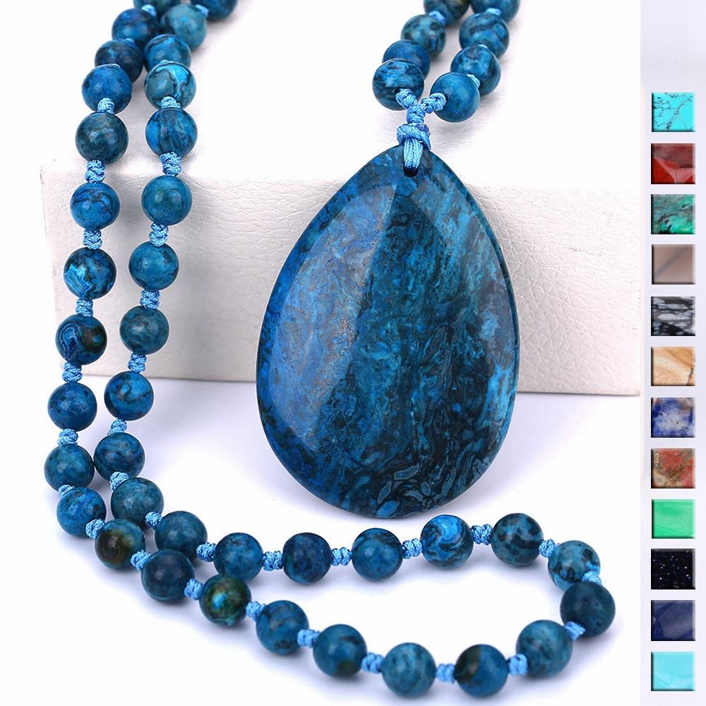 4*6cm Natural Agate Pendant Purple Quartz Opal Stone Pendant Necklace Amethyst Obsidian Healing Reiki Bead Free Shipping gift