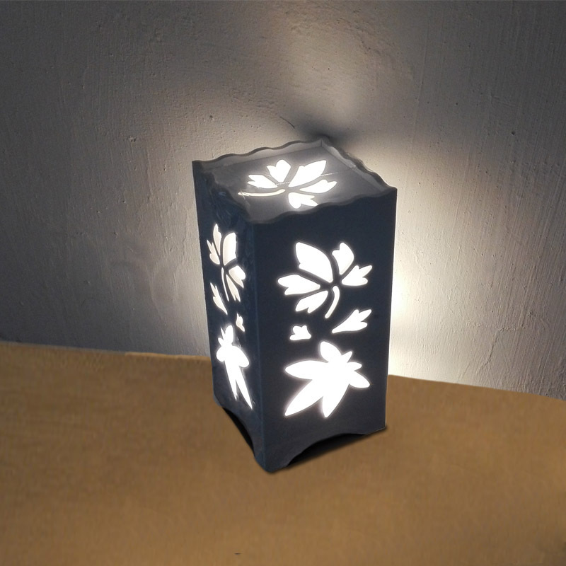ФОТО The maple leaf Through-Carved table lamps AC85V-265V 5W Warm white quartet ivory white LED abajur for living room study bedroom