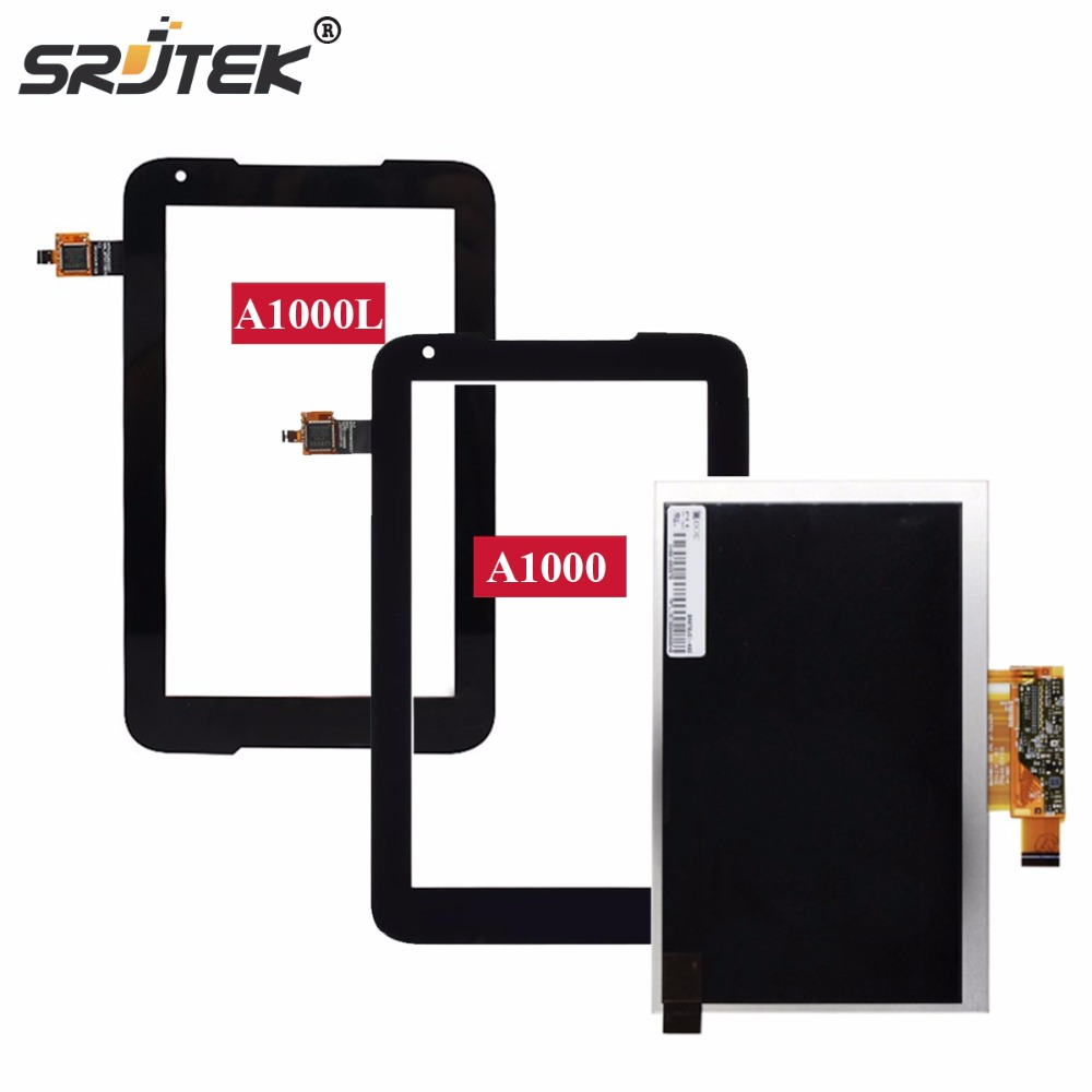 Srjtek 7 Touch Panel for Lenovo Tablet IdeaTab A1000 A1000L Touchscreen Digitizer Sensor LCD Display Matrix Screen Tablet Parts srjtek 7 for lenovo ideatab a3000 replacement lcd display touch screen with frame assembly for tablet pc white