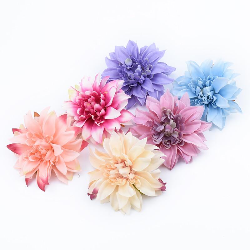 5/10 Pieces Cheap Fake Gerbera Heads Flower Wall Wedding Car Home Decoration Accessories Ornamental Flowerpot Artificial Flowers