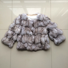 Women real fox fur jacket lady natural fox fur outerwear short style warm winter fur coat customized plus size