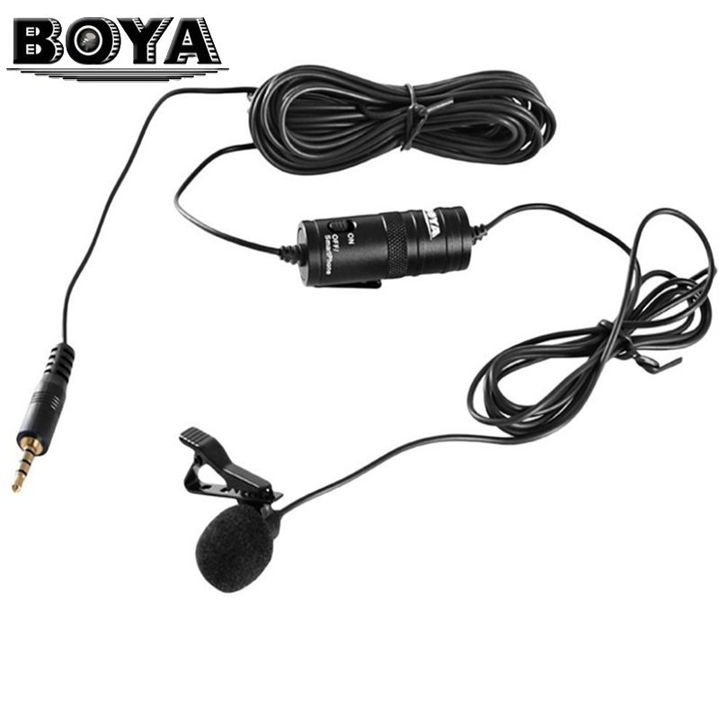 Boya By M1 3 5mm Lavalier Stereo Audio Recorder Interview Speach