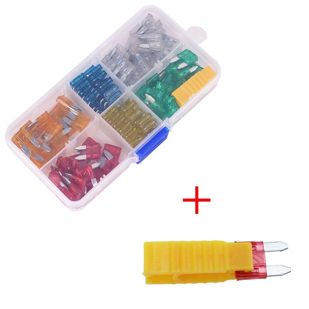 small resolution of sailnovo 120pcs mini blade zinc fuse 12v 24v assortment set auto car truck fuse box with fuse extractor 1cm x 1 5cm in fuses from automobiles motorcycles