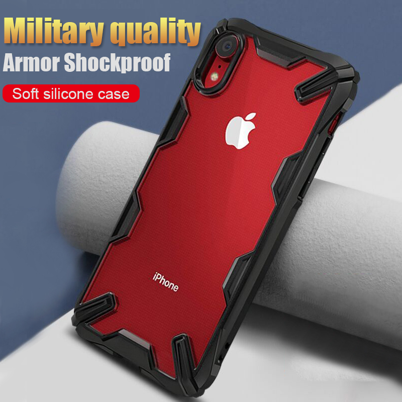 Luxury Armor Silicone Bumper Case On The For IPhone XS Max XR X Shockproof Case Cover For IPhone 6 6s 8 7 Plus Soft Phone Case