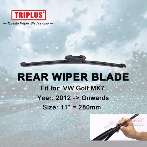 Rear Wiper Blade for VW GOLF MK7 (2012-Onwards) 1pc 11 280mm,Rear Windscreen Wipers,for Back Window Windshield Blades