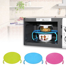 Microwave Oven Tray Plate Rack Layered Double Mat Insulated Disc Bowl Cover Hot China