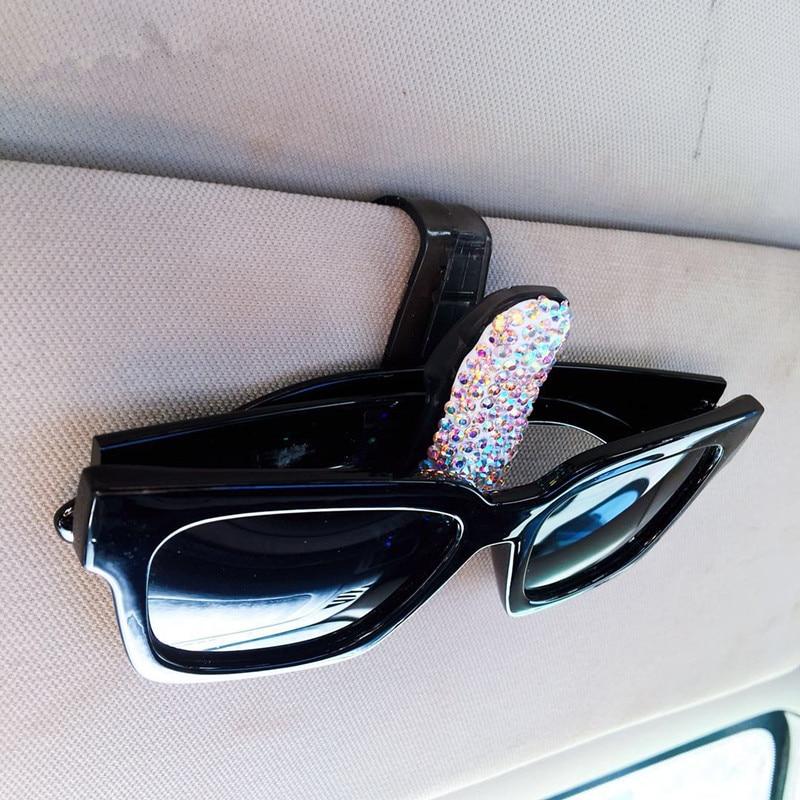 49317a4912c 1 Piece Car Sun Visor Glasses Clip Rhinestone Diamond Ticket Receipt Card  Clip Storage Holder Multi Color-in Auto Fastener   Clip from Automobiles ...
