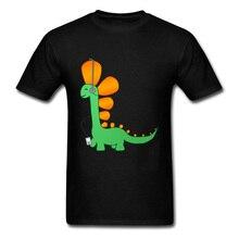 Lasting Шарм Hipster доисторических мелодии динозавр спортивные футболки для Для мужчин Мужской Забавный короткий рукав спортивная рубашка
