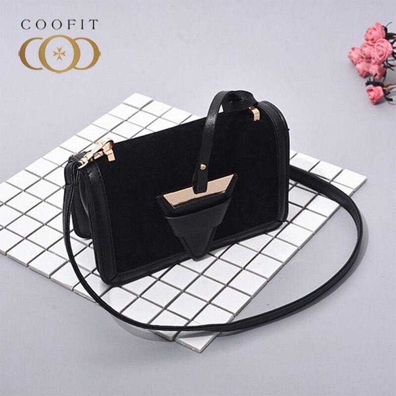 Fashion Velvet Chain Crossbody Bag For Women Female Lady Girls Stylish Messenger Bags Flap Bag Bolsa Feminina Coofit 2018 New