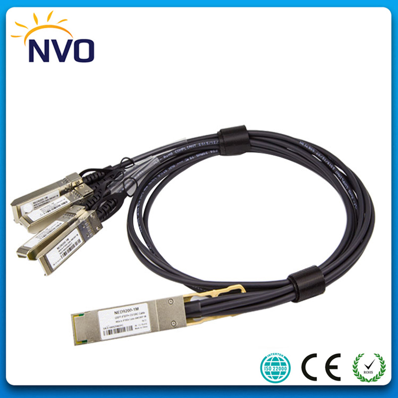 40G QSFP to 4 SFP+ 1M AWG30 Passive Direct Attach Copper Twinax DAC Cable,40G QSFP to 4SFP AWG30 Passive Direct Copper Cables