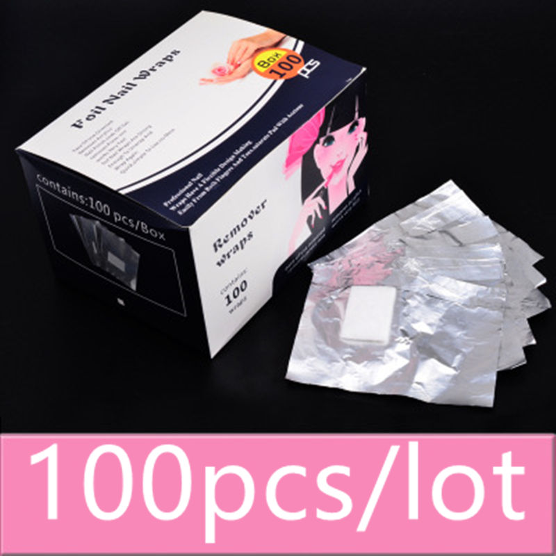 Y XLWN Manicure supplies wholesale Disposable special belt cotton foil paper Remove phototherapy nail polish rubber tin foil 100 in Nail Polish Remover from Beauty Health