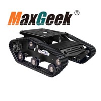 Tracked Tank Chassis CNC RC Tank Chassis Aluminum Alloy for Arduino DIY Unfinished Blue