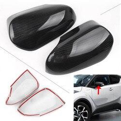 Car Styling osłony lusterek bocznych Protector dekoracja dla Toyota CHR C-HR 2016 2017 2018 plastik ABS