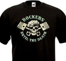 781b8932d Funny Clothing Casual Short Sleeve Tshirts ROCKERS Until The Death Rock'n'Roll  Rockabilly