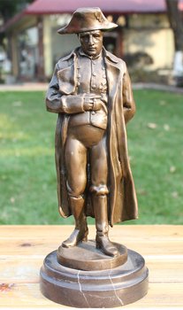 TOP rzeźba sztuka # po raz pierwszy francuski imperium cesarz Napoleon Bonaparte biuro w domu statua z brązu # najlepszy prezent biznesowy 28 CM wysoki