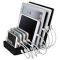 8 Ports Desktop Charging Station Family Office 8*2.4A Multi Quick USB Charger Dock Station With Stand Power adapter