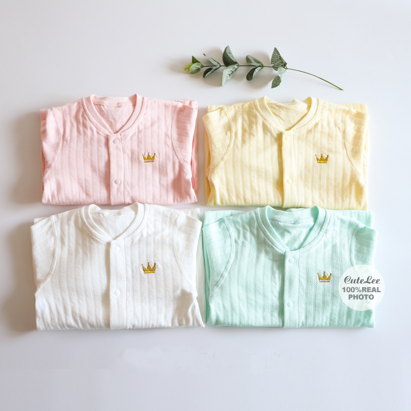 f6cd541ac26 6-24M solid baby rompers Crown clothes white baby onesie for boy ...