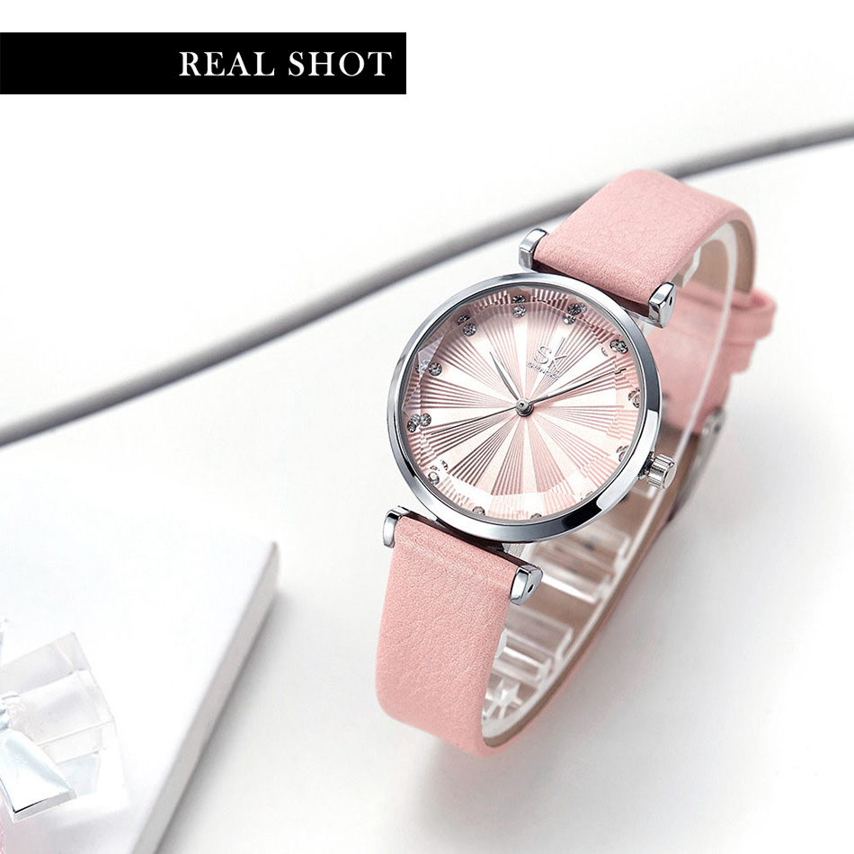 SK Luxury Brand Leather Ladies Wrist Watches Women Prism Quartz Watch For SHENGKE Female Clock reloj mujer 2019 relogio feminino (11)