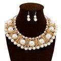 Nueva Joyería de la Manera Collar de Perlas y Pendientes de La Boda La Mujer Porm Partido Regalos NER-G009