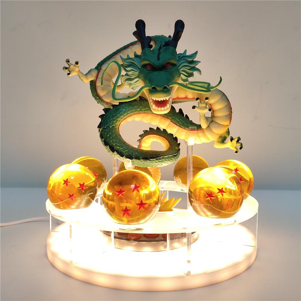 Dragon Ball Shenron boule de cristal LED bricolage veilleuse Dragon Ball Z lampe USB puissance Shenlong Dragon Ball Super Lampara jouets modèle