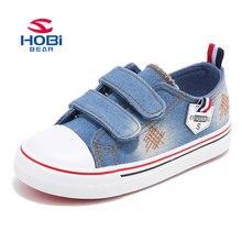 HOBIBEAR killar platt kanvas sneaker skor bekväma gratis frakt barn skor ljusblå färg skor gummi mjuka skor GU2603