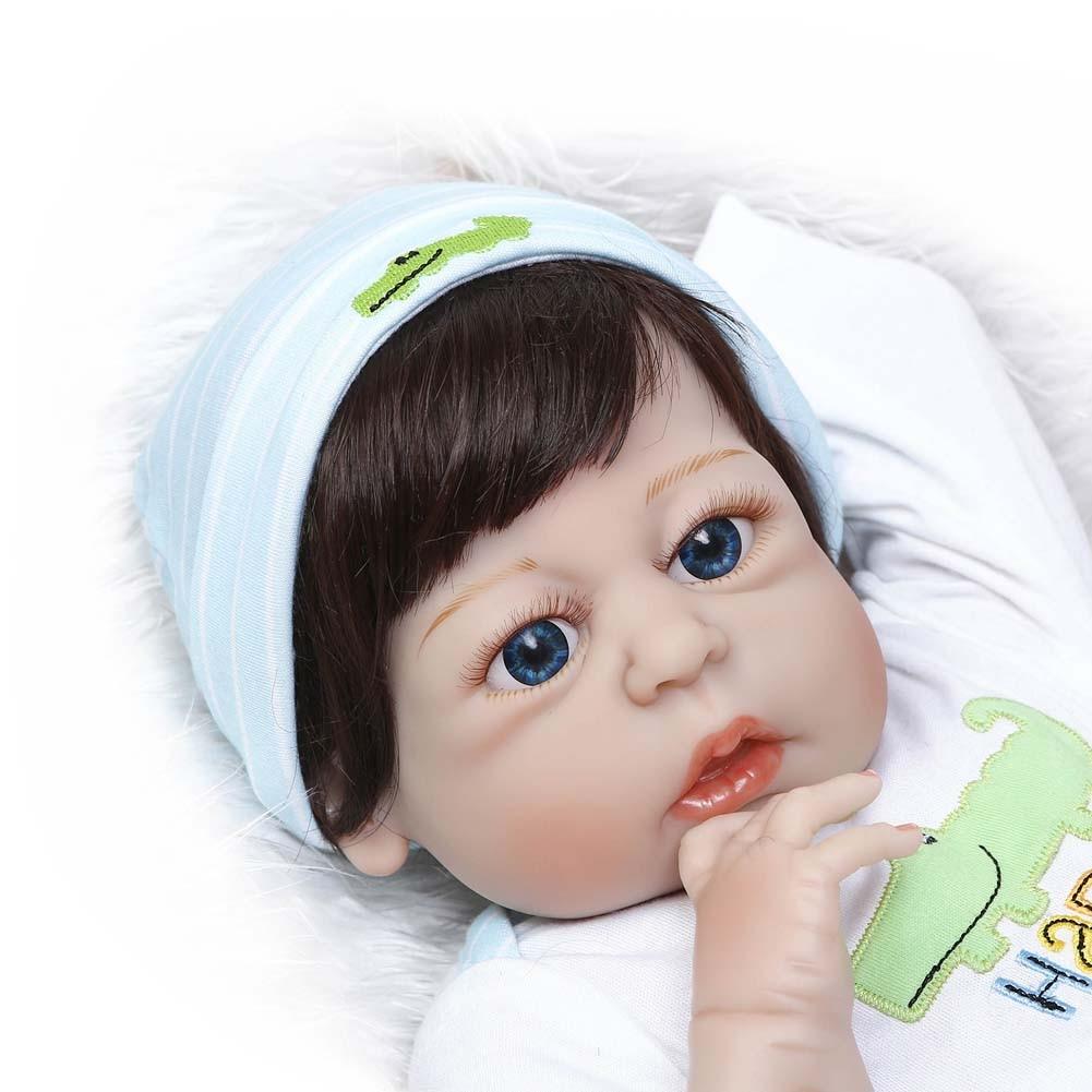 2018 New NPK 56cm Lifelike Reborn Newborn Doll Set Silicone Boy Baby Dolls for Kids Playmate Toy Gift npk 56cm lifelike reborn doll set silicone boy baby newborn dolls for kids playmate gift bm88