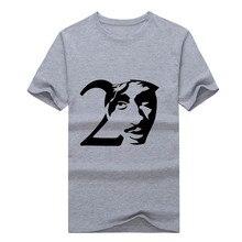 2017 Fashion Tupac 2PAC Rap Hip Hop Music o neck T-shirt Tee 100% Cotton T shirt 1109-1 free shipping
