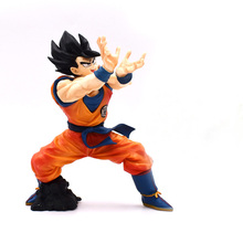 19cm Dragon Ball Z Goku Super SaiYan Battle Version Figure PVC Collection Model Hot Toys Brinquedos for Christmas gift juguetes hazy beauty dragon ball gt figure rise standard super saiyan 4 goku vegeta figure juguetes brinquedos dolls toys figurals
