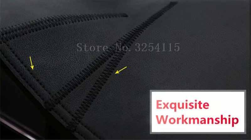 ل نيسان جراند ليفينا X-Gear Urban 2006 2011 2013 2014 2108 جلد داشمات غطاء لوحة القيادة داش حصيرة السجاد سيارة التصميم RHD