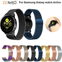 For Samsung galaxy watch active bands 42mm milanese loop magent buckle strap 20MM samsung wrist band watchbands