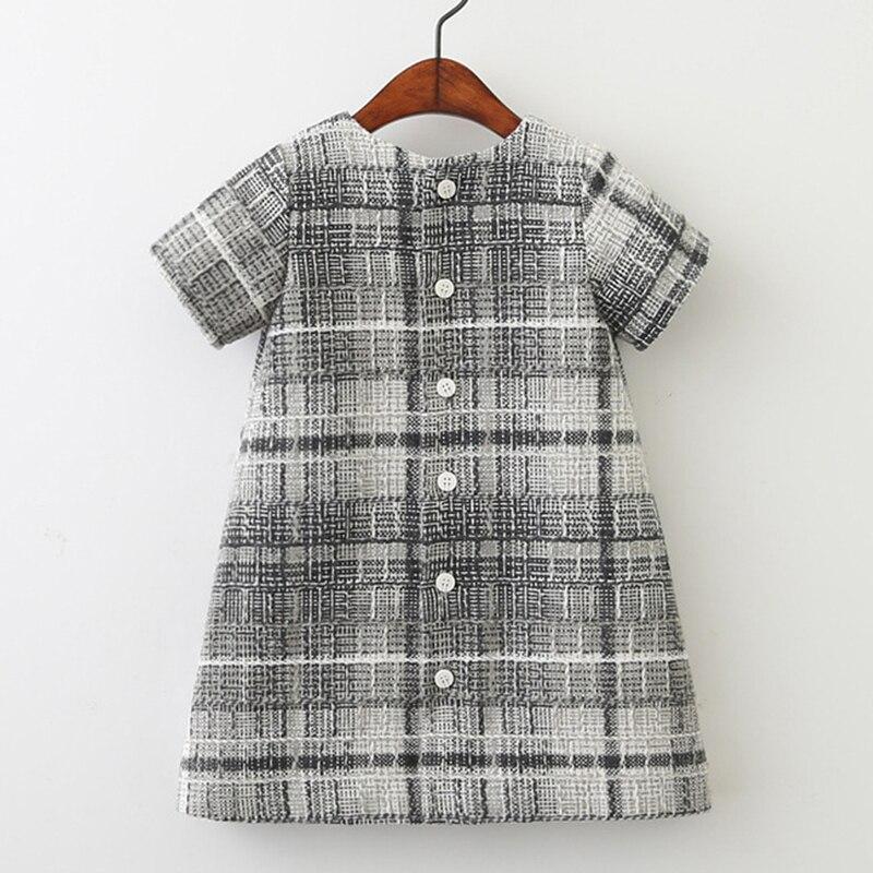 91f7e9967fd90 Filles laine robe automne 2017 marque princesse robe avec poche Plaid  enfants robes pour filles vêtements bébé noël robe enfants dans Robes de  Mère et ...