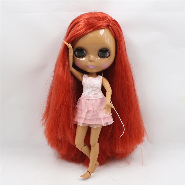 ICY Neo Blythe lutka tamno obojena tijela duboke crvene kose