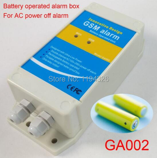 GSM SMS ALARM BOX for AC power failure alarm Works with GSM cell phones-in Building Automation from Security & Protection    1