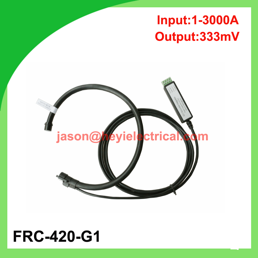 China manufacturer Input 3000A FRC-420-G1 flexible rogowski coil with G1 integrator output 333mV split core current transformer input 5000a frc 600 flexible rogowski coil with bnc connector output 500mv split core current transformer