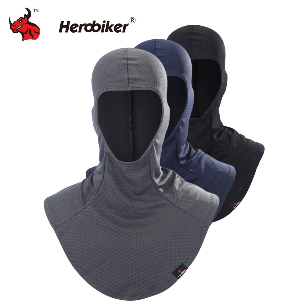 HEROBIKER Motorcycle Face Mask Balaclava Motorcycle Neck Scarf Summer Breathable Moto Mask Hat Hood Cycling Bike Ski Mask herobikermotorcycle face mask balaclava motorcycle neck warmer motorcycle ski caps bicycle scarf moto mask mascara moto
