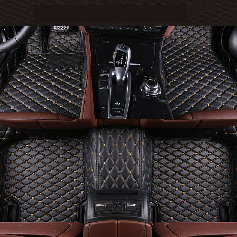Auto Floor Mats For BMW F20 116 118 120 125 M135i 2012-2017 Foot Carpets Step Mat High Quality Brand New Embroidery Leather Mats auto floor mats for bmw 118 120 125 2017 2018 foot carpets step mat high quality brand new water proof clean solid color mats