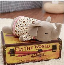 WYZHY down cotton elephant pillow plush toy sofa decoration to send friends and children gifts 60CM