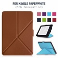 Kindle paperwhite case smart cover for Kindle papaerwhite 1 2 3 2015 Transformers Synthetic PU Leather with Built-in Magnet