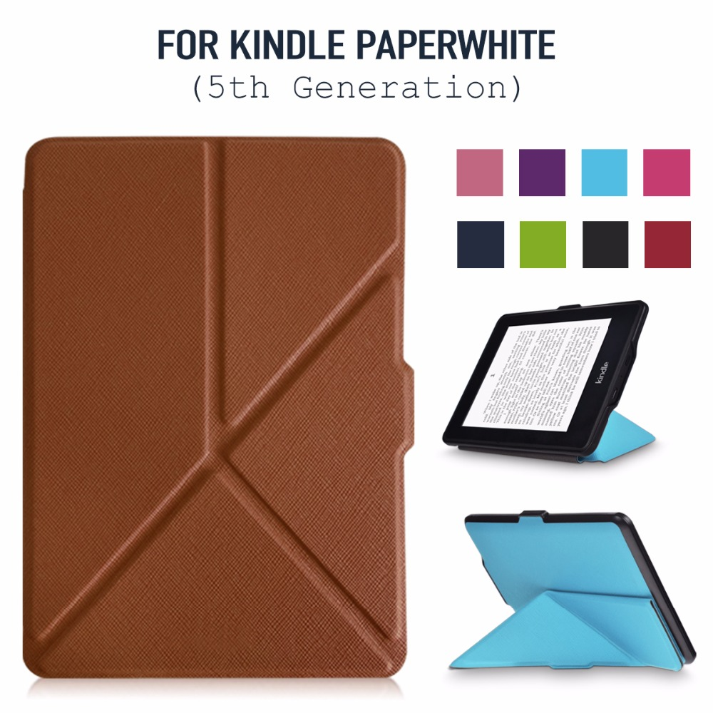 Origami Case for Kindle Paperwhite -The Thinnest and Lightest PU Leather Cover for All-New Amazon Kindle Paperwhite all versions 2018 new e book case for kindle paperwhite protective cover for amazon kindle paperwhite 3 2 1 pu leather protector sleeve 6