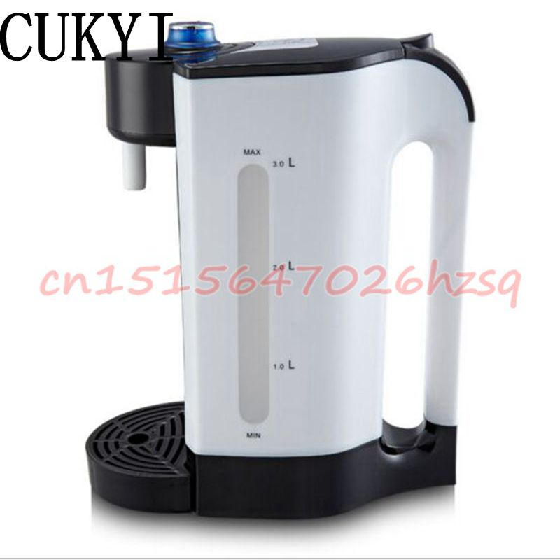 CUKYI Electric Air Pots Thermos 3L Water Kettles Big Capacity Mute Dry proof Stainless Steel Heat Preservation Boilers cukyi household electric multi function cooker 220v stainless steel colorful stew cook steam machine 5 in 1