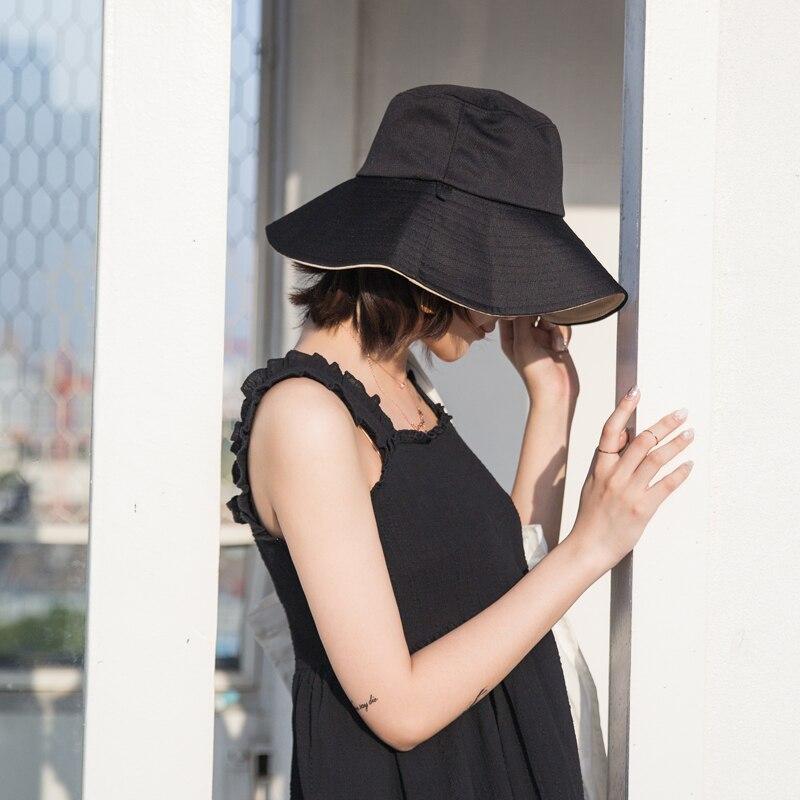 a43a87da5e  La MaxPa  Two Side Reversible Bucket Hat Unisex Fashion Fashion Street  Gorros Women Summer