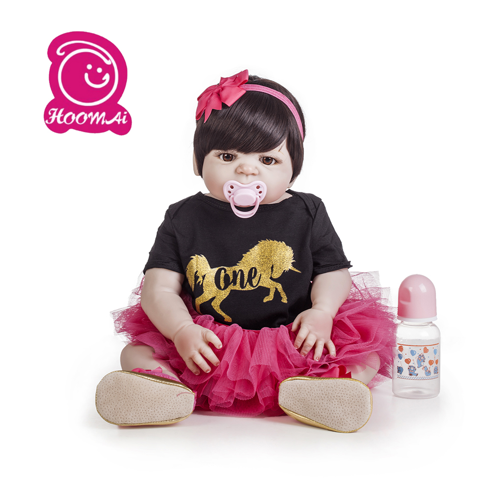 Hoomai  New Arrival  lovely  Baby Girl Doll Toy 22  Reborn Dolls Silicone Vinyl Full Body Alive Bebe  Reborns Bath ToyHoomai  New Arrival  lovely  Baby Girl Doll Toy 22  Reborn Dolls Silicone Vinyl Full Body Alive Bebe  Reborns Bath Toy