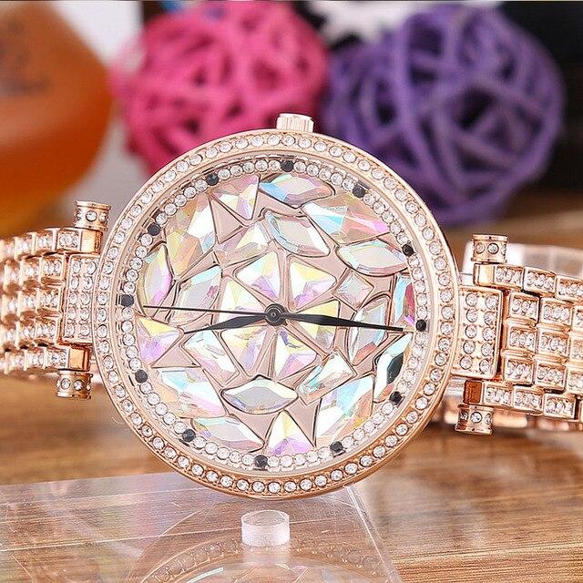 למעלה מותג נשים שעונים אופנה קוורץ פלדת רצועת שעון נשים גבירותיי שמלת נקבה שעון שעוני יד Relogio Feminino מתנה