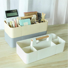 BF040 Multi-function Wooden handle stacking desk box lattice cosmetic storage box office stationery box finishing 32*8*15cm nrh4207 air box handle aluminum box wooden box ring toolbox handle chrome plated iron no spring function