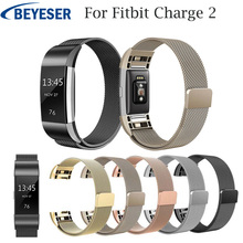 цена на watchstrap for Fitbit Charge 2 watch band replacement strap stainless steel bracelet link watchband for Fitbit charge2 wristband