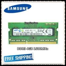 Samsung-memoria DDR3 para ordenador portátil, 4GB, 1600MHz, PC3, PC3L-12800S, RAM 12800, 4G, SODIMM