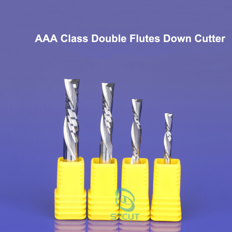 1pc AAA Class SHK 6mm Double two 2 flutes down-cutter spiral endmill left hand cutting bits for plastic pvc acrylic MDF wood bit1pc AAA Class SHK 6mm Double two 2 flutes down-cutter spiral endmill left hand cutting bits for plastic pvc acrylic MDF wood bit