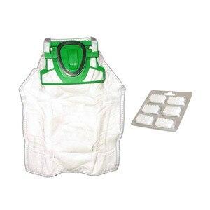 Image 1 - 12 * كيس لجميع الغبار الغبار تنظيف الملابس حقيبة 1 * أقراص العطر الياسمين ل Vorwerk VK200 FP200 مكنسة كهربائية أجزاء