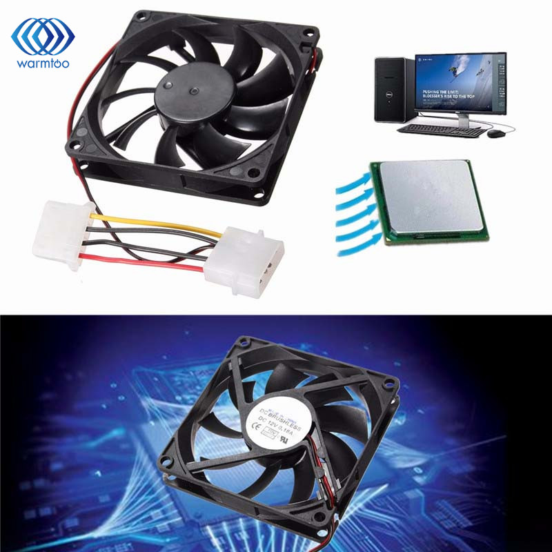1PC  9 Leaf 4 Pin 12V Multi Size Silent Cooler Case Fan Heat Sink Small Cooling Radiator For Computer PC CPU